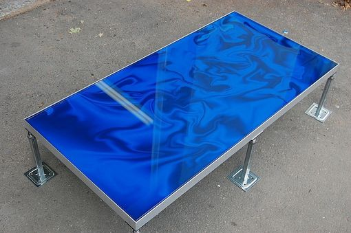 Custom Made Art Glass Flooring