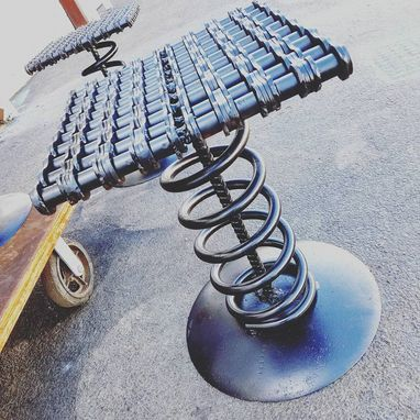 Custom Made Industrial Chic Metal Bar Stool By Raymond Guest