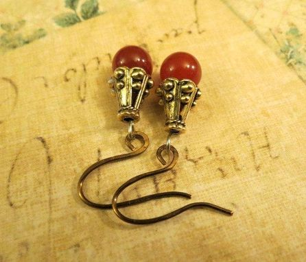 Custom Made Elegant Red Drop Earrings