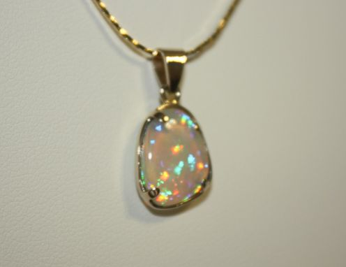 Custom Made Welo Harlequin World Class Opal Pendant