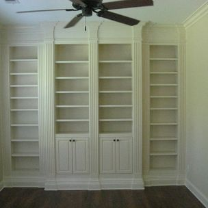 Bookcase With Fluted Columns By