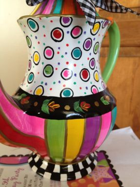 Custom Made Custom Hand Painted Teapot/Coffee Pot