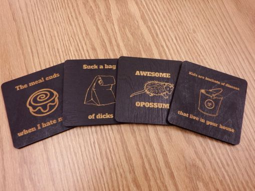 Custom Made Joke Coasters, Louis C.K. Quote Coasters