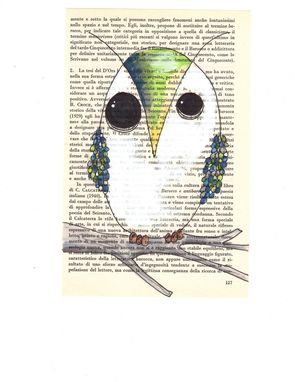 Custom Made Ready To Ship Original Owl Custom Drawing On Old Book Page