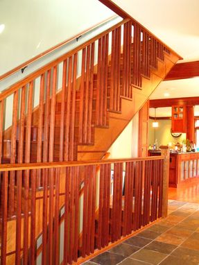 Custom Made Cherry And Jatoba Stairway