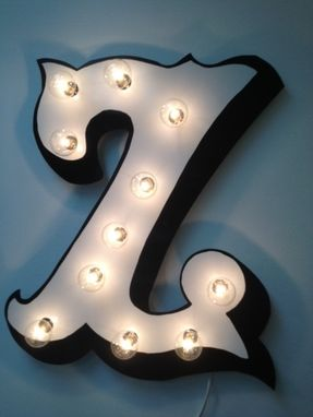 Custom Made Marquee Carnival Lighted Letter 3d Paint 18 Inch Tall