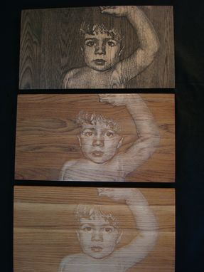 Custom Made Carved Portrait Plaque
