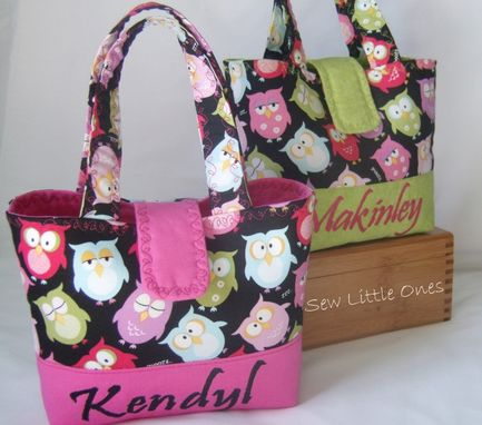 Custom Made Personalize Owl Children Handbag