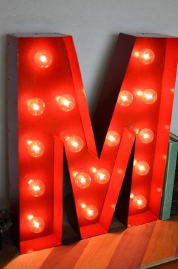 Custom Made Vintage Inspired Marquee Light- Letter M