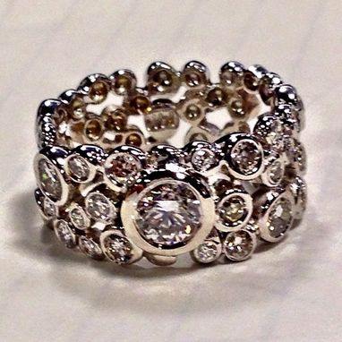 Custom Made Custommade Diamond Bubble Ring