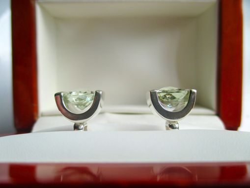 Custom Made Green Beryl Cufflinks