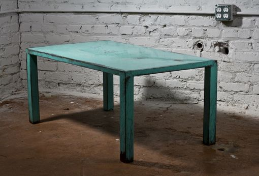 Custom Made Aqua And Tourmaline Coffee Table