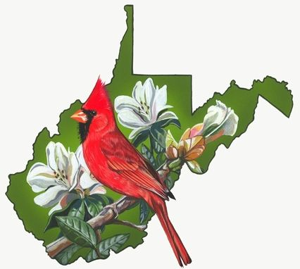 Custom Made West Virginia State Bird And Flower