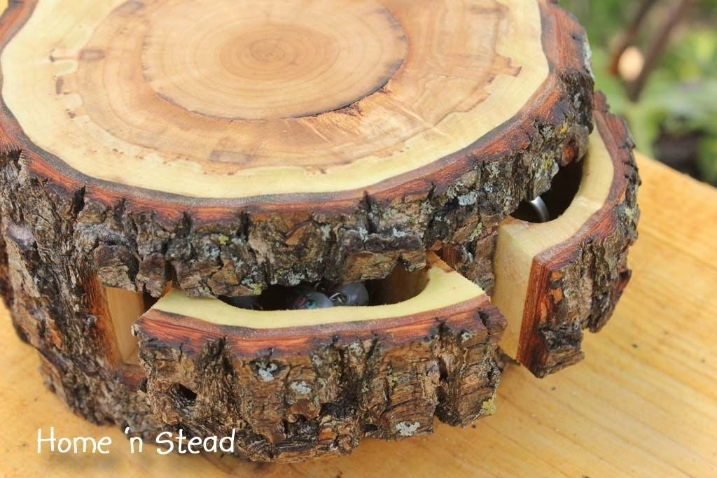 Hand Made The Quot Storage Stump Quot Hidden Log Organiser By
