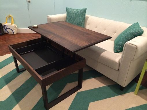 Custom Made Caitlin's Walnut And Wenge Lift-Top Desk