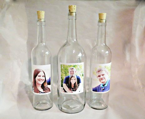 Custom Made Wine Bottle Wedding Unity Sand Ceremony Set With Personalized Labels
