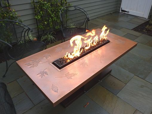 Custom Made Autumn Leaf Fire Table