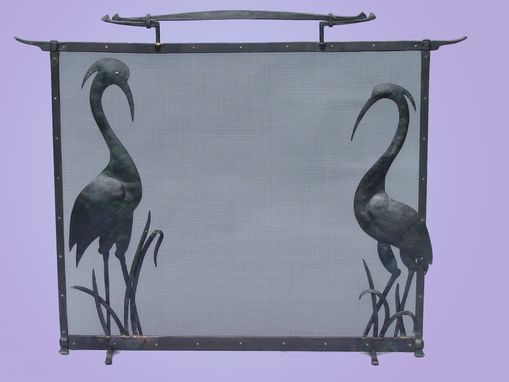 Custom Made Heron Fire Screen