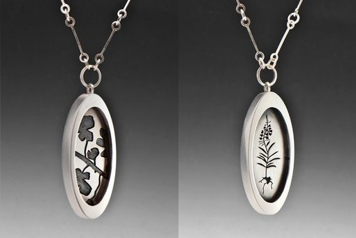 Custom Made Fireweed Flower Necklace, Reversible Sterling Silver Floral Pendant