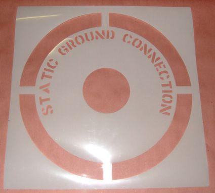 Custom Made Man Hole Cover Stencil - Laser Cut Mylar