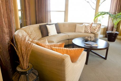 Custom Made Circular Sectional Sofa