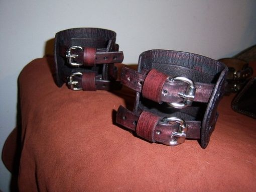 Custom Made Leather Matching Celtic Bangles