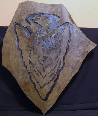 Custom Made Etched Flagstone Rock
