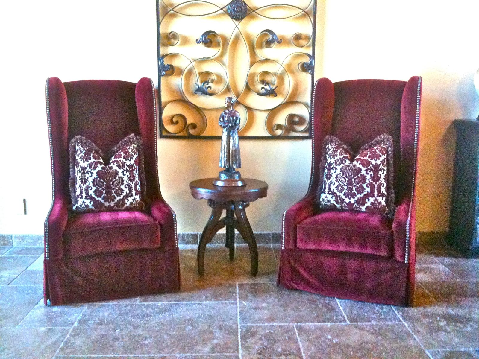 Handmade Tall Wingback Chairs By Pacific Mfg Co