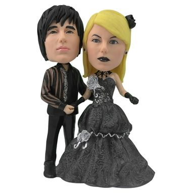 Custom Made Personalized Wedding Cake Topper - Gothic Couple