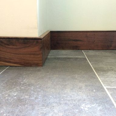 Custom Made Solid Hardwood Reclaimed Walnut Baseboard And Trim