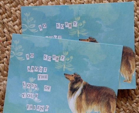 Custom Made Dog Sympathy Card Set