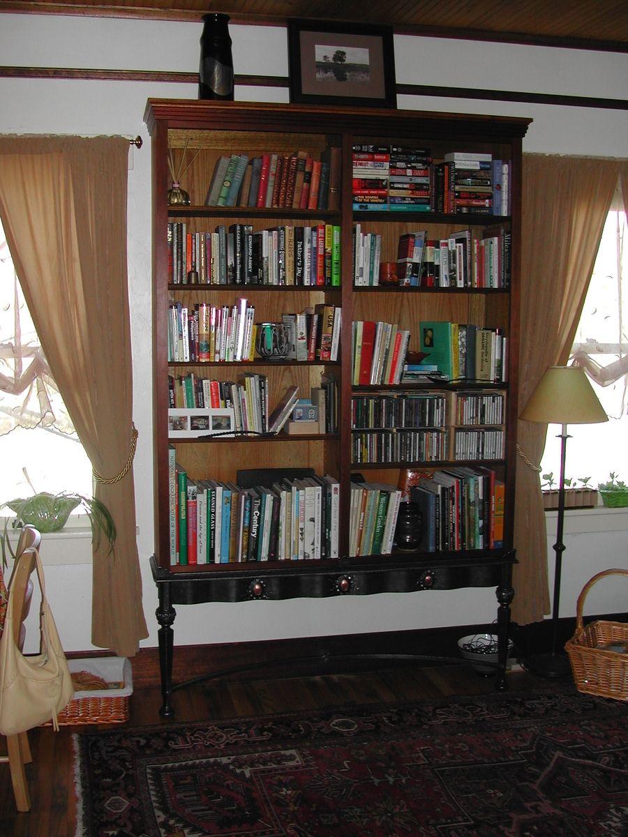 Custom Made Wrought Iron Bookshelf Stand