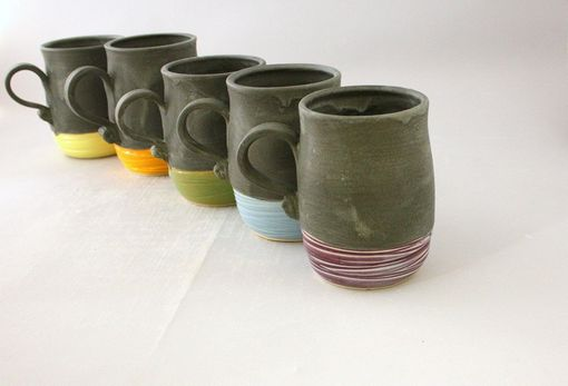 Custom Made Modern Ceramic Mugs, Stoneware Cups