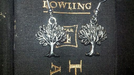 Custom Made Sale Harry Potter Inspired Whomping Willow Tree Earrings, Ready To Ship