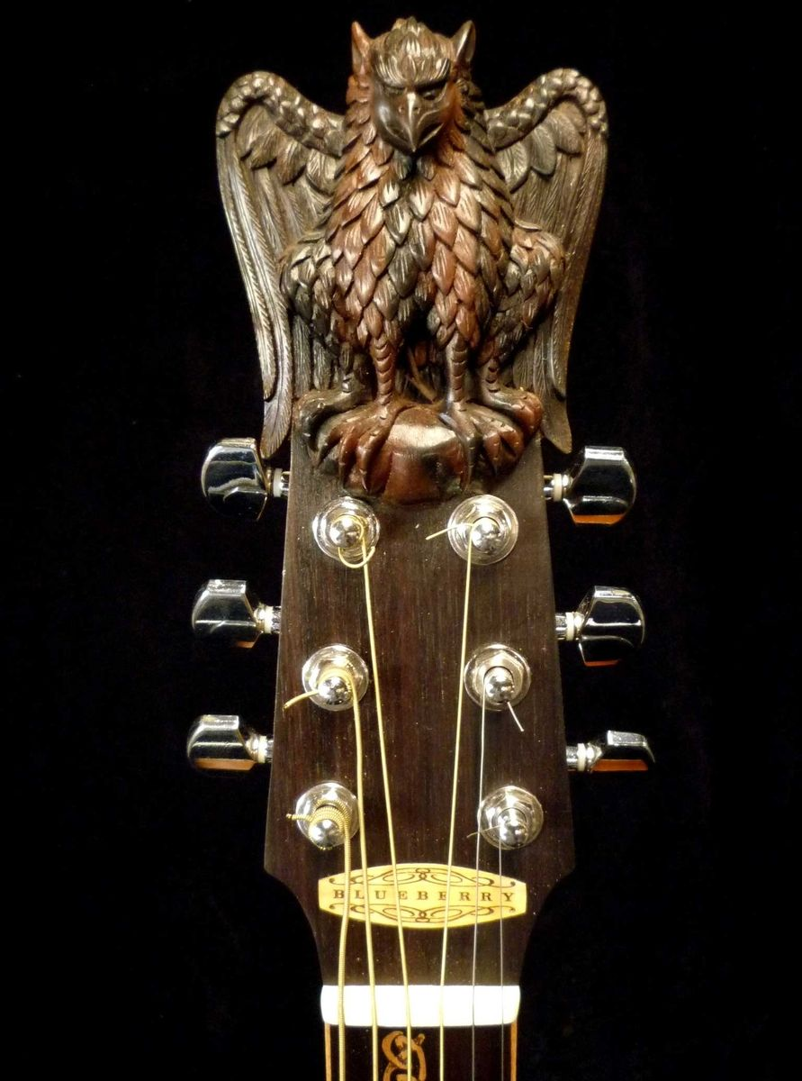 hand crafted blueberry custom griffin acoustic guitar by blueberry musical instruments inc. Black Bedroom Furniture Sets. Home Design Ideas