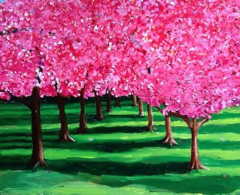 Custom Made Cherry Blossom Grove Notecard Set