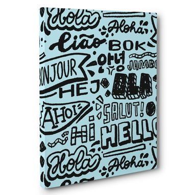 Custom Made Graffiti Hello In Multiple Languages Motivational Canvas Wall Art