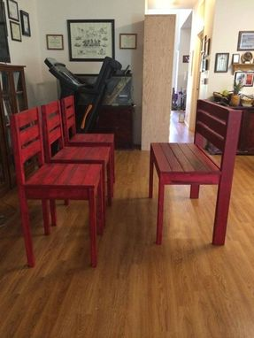 Custom Made Rustic Bar Height Bench And Chairs