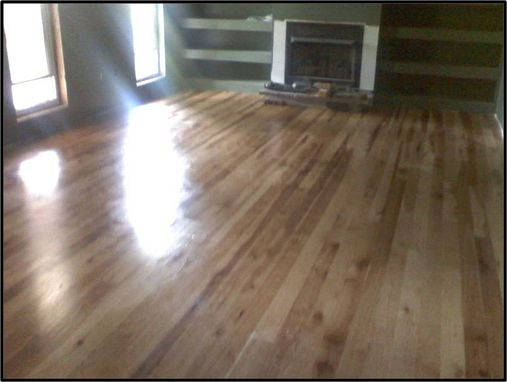 Custom Made Hickory Floor Installation / Finishing