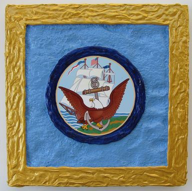 Custom Made U.S. Navy Emblem - 3d Wall Art