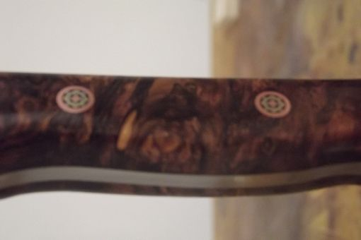 Custom Made Stainless Steel Hunting Knife Fit With Hondurous Rose Wood Burl Handles