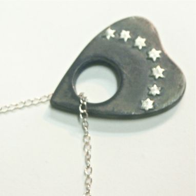 Custom Made Oxidized Sterling Silver Planchette Necklace