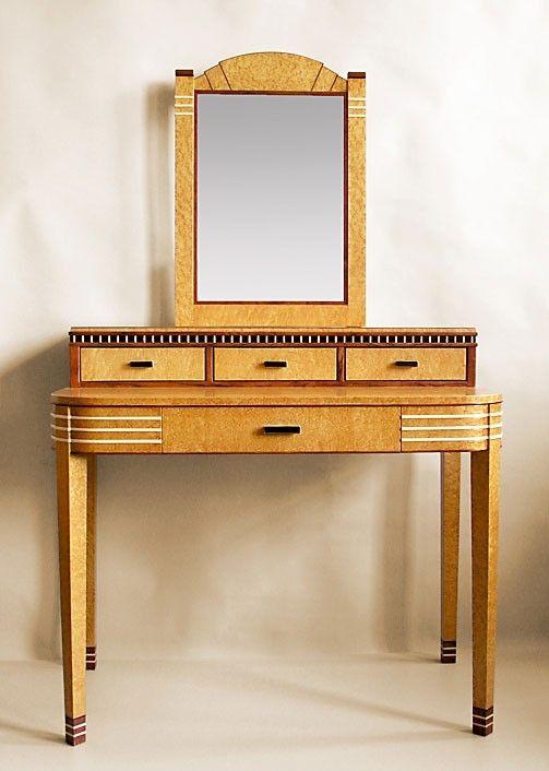 Custom Made Art Deco Vanity With Mirror