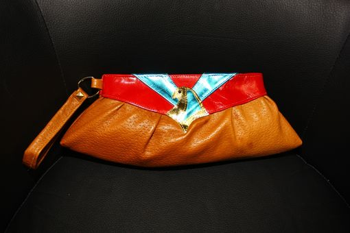 Custom Made Ancient Egypt-Inspired Leather Clutch