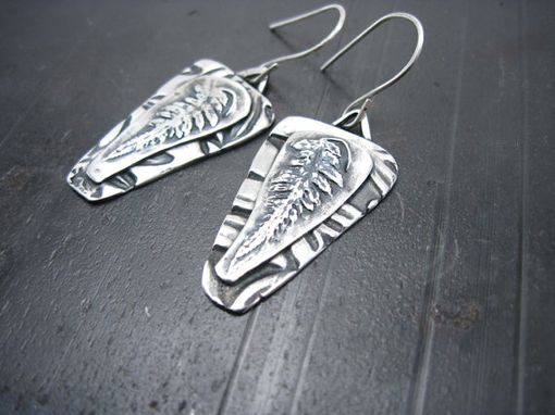 Custom Made Fine Silver Fern Earrings