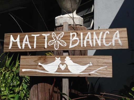 Custom Made Personalized Wedding Sign. Beach Wedding Sign