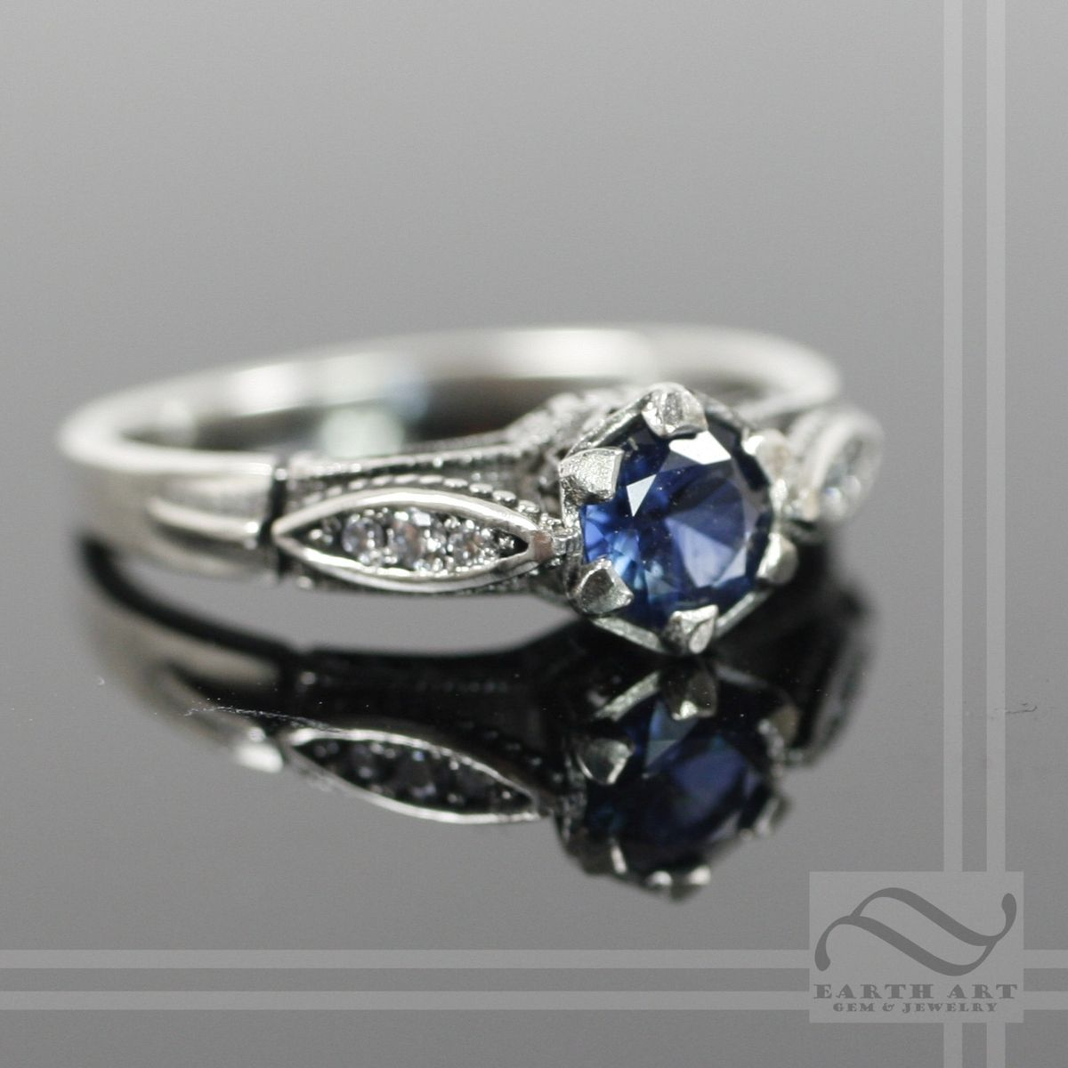 Buy A Hand Crafted Vintage Style Sapphire And Diamond Ring Made To