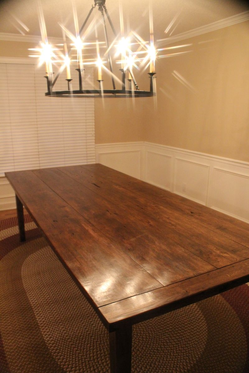 Hand Crafted 9ft Custom Farm Table By The Rusty Nail
