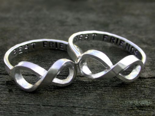 Custom Made Personalized Sterling Silver Best Friends Rings