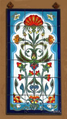 "Custom Made 18""X36"" Hand Glazed Tile Murals"